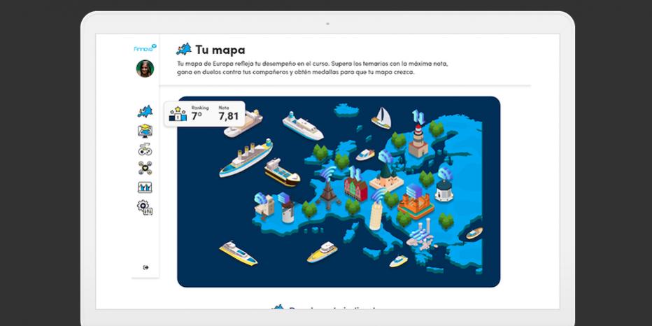 Plataforma educativa de gamificación sobre financiación europea